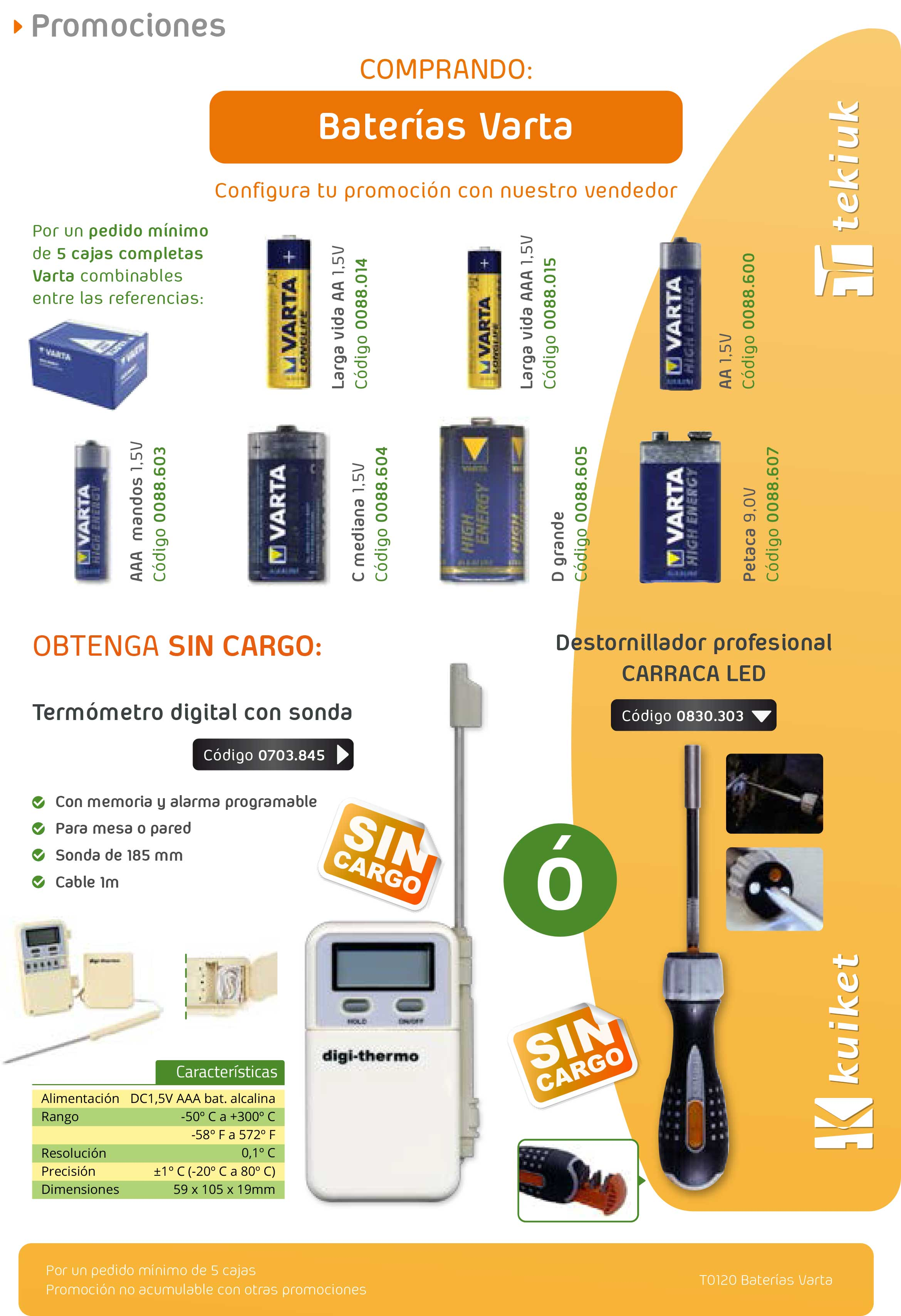 T0120 Baterias Varta