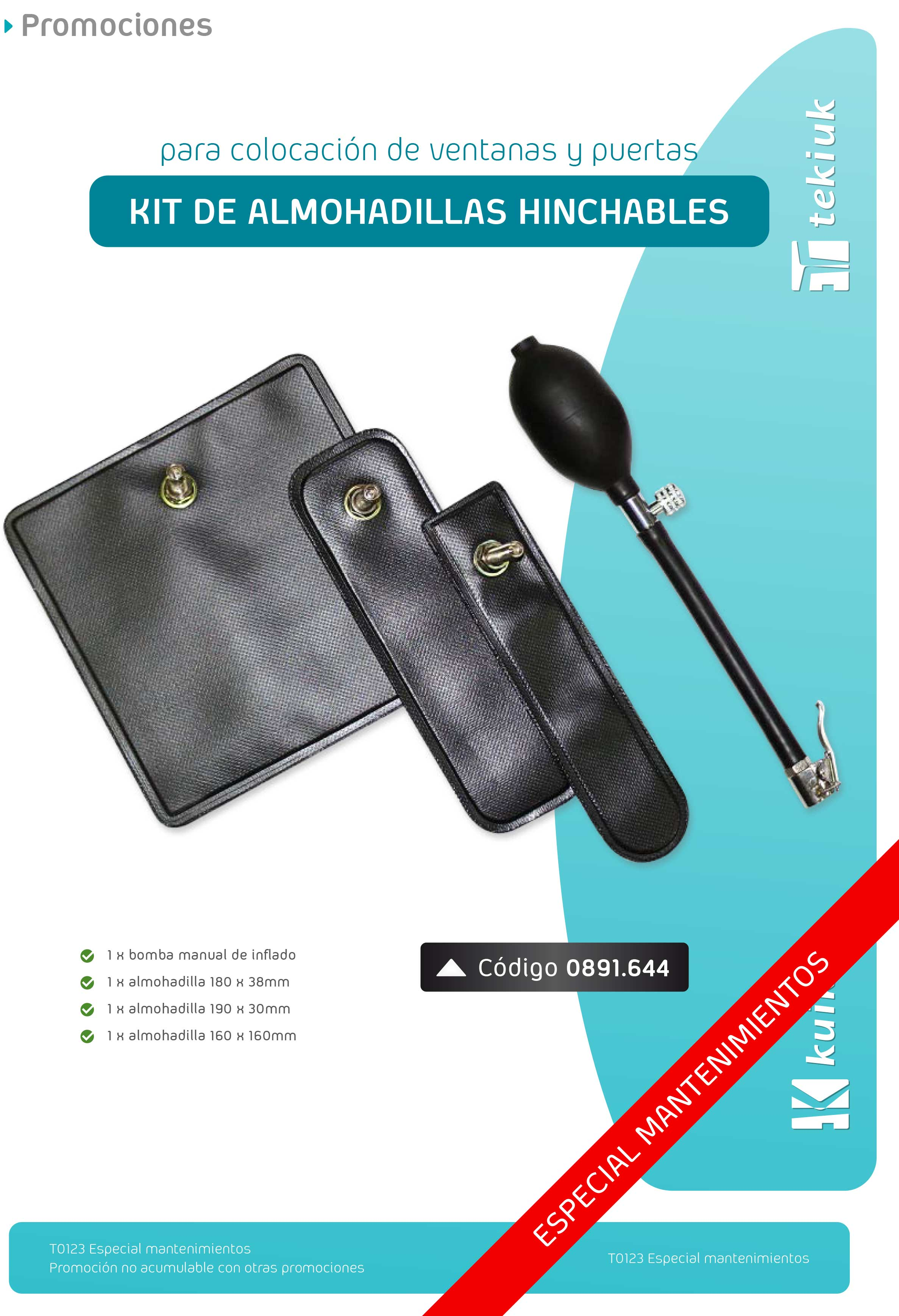 T0123 Kit de almohadillas hinchables