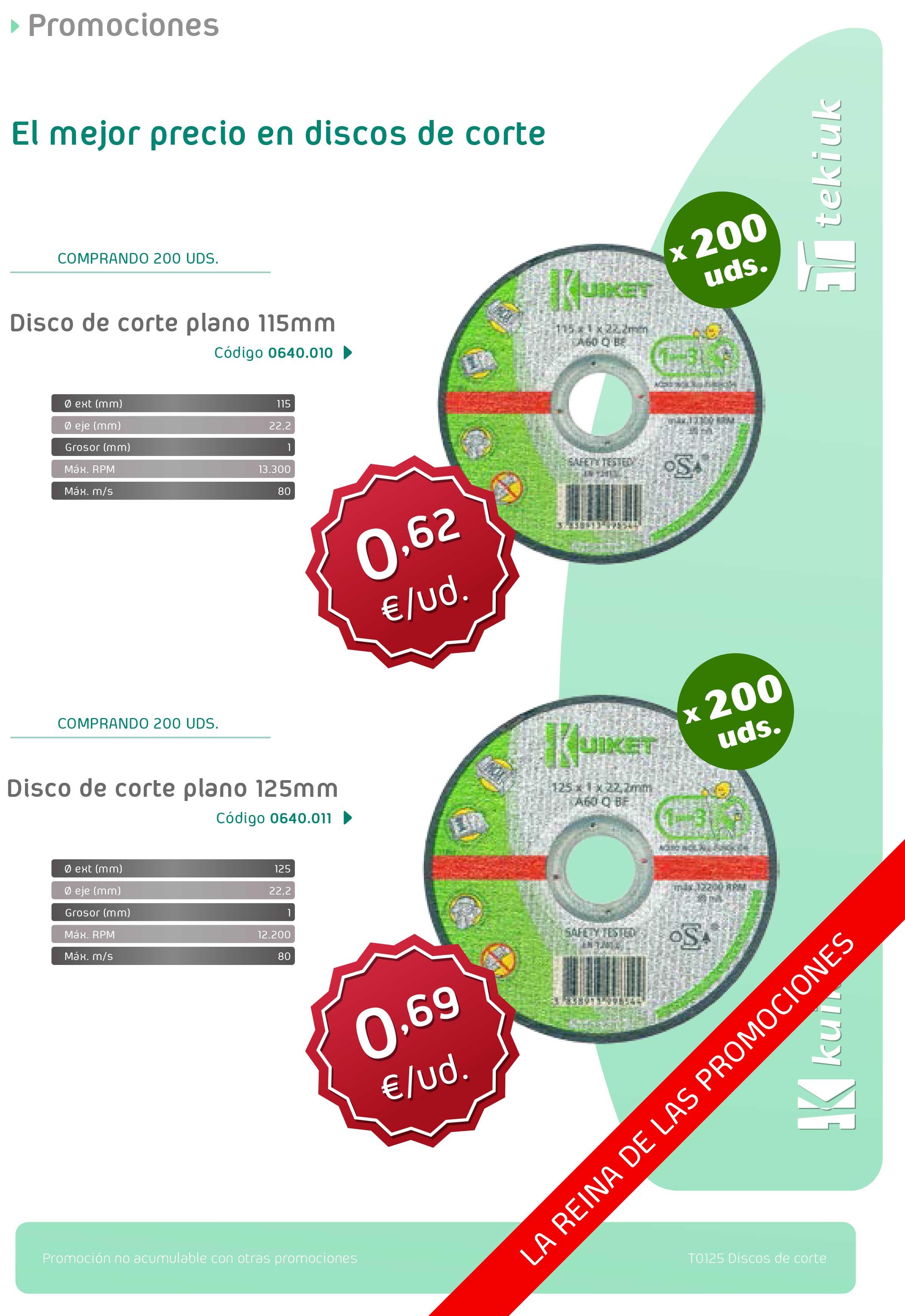T0125 Discos de corte