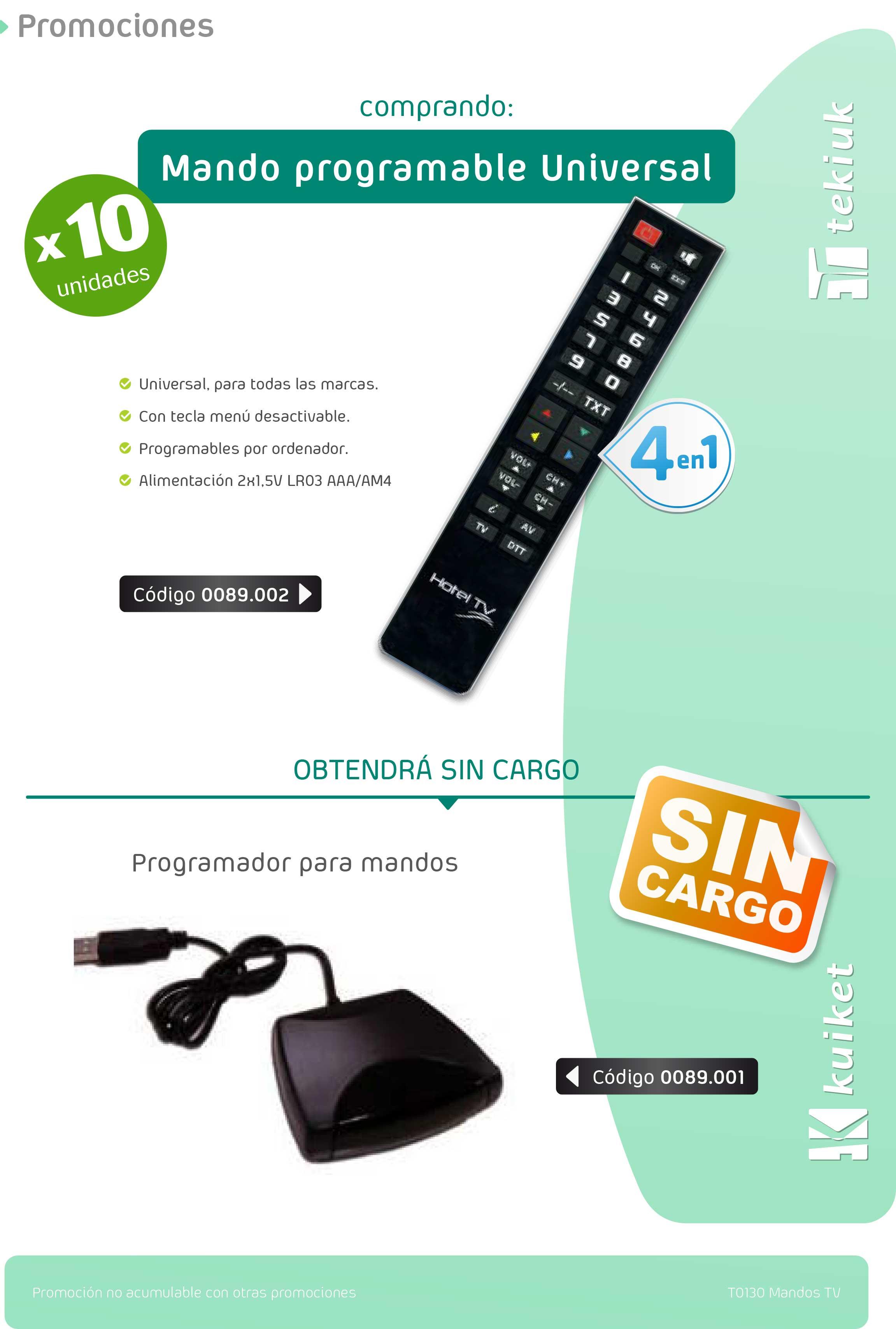 T0130 Mandos TV para hoteles
