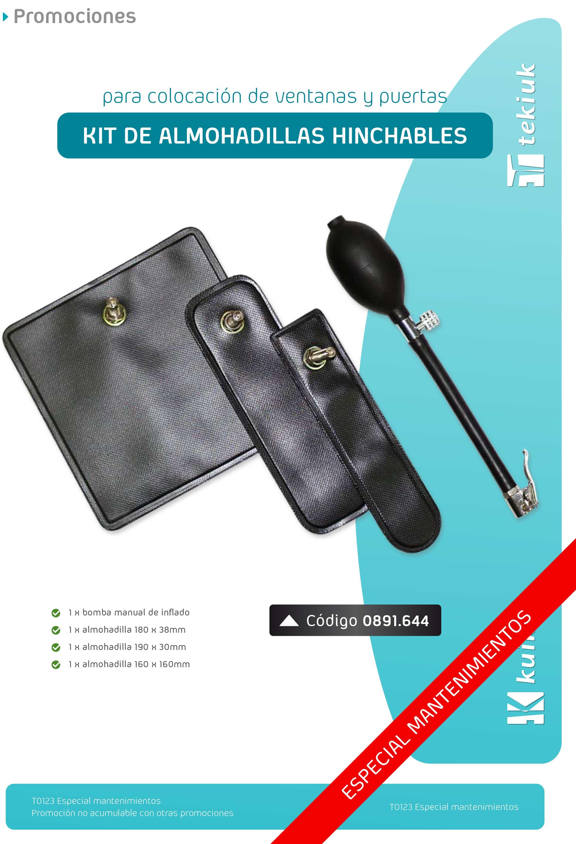 T0123 Kit de almohadillas hinchables