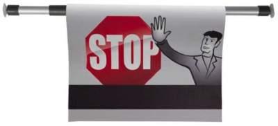 Percha señal atención Stop